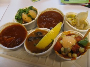 Six Sample Chilis from Alliance for Animals Vegan Chili Cook-Off